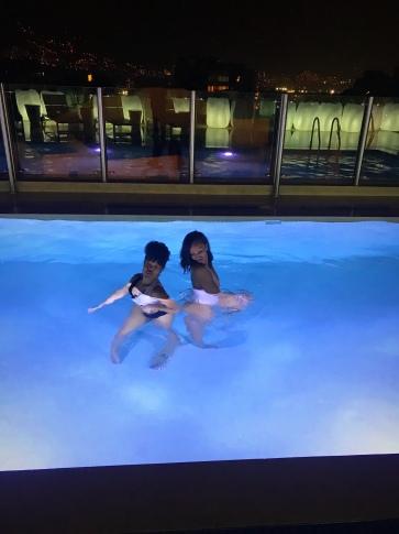 Pool dip at the hotel